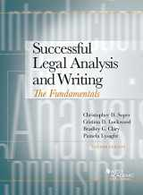 9781634606219-1634606213-Successful Legal Analysis and Writing: The Fundamentals (Coursebook)
