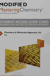 9780134162430-0134162439-Modified Mastering Chemistry with Pearson eText -- Standalone Access Card -- for Chemistry: A Molecular Approach (4th Edition)
