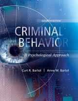 9780134163741-0134163745-Criminal Behavior: A Psychological Approach (11th Edition)