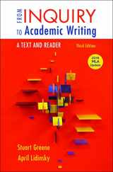 9781319089658-1319089658-From Inquiry to Academic Writing: A Text and Reader, 2016 MLA Update Edition
