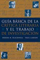 9781413014686-1413014682-Guia básica de la critica literaria y el trabajo de investigacion (World Languages)