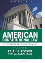 9780813349961-0813349966-American Constitutional Law, Volume I: The Structure of Government