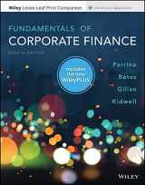 9781119502456-1119502454-Fundamentals of Corporate Finance, 4e WileyPLUS NextGen Card with Loose-Leaf Print Companion Set