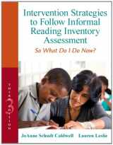 9780132907088-0132907089-Intervention Strategies to Follow Informal Reading Inventory Assessment: So What Do I Do Now? (3rd Edition) (Myeducationlab)
