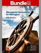 9781260696318-1260696316-Gen Combo Looseleaf Managerial Accounting for Managers; Connect Access Card