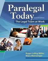 9781305506084-1305506081-Paralegal Today: The Legal Team at Work