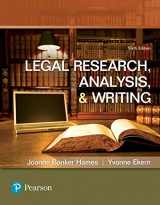 9780134559841-0134559843-Legal Research, Analysis, and Writing