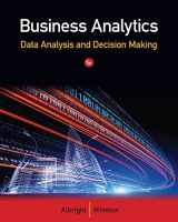 9781133588269-1133588263-Business Analytics: Data Analysis & Decision Making (Book Only)