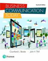9780134562186-0134562186-Business Communication Today (14th Edition)