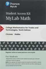 9780134880402-0134880404-MyLab Math with Pearson eText -- 24 Month Standalone Access Card -- for College Mathematics for Trades and Technologies (My Math Lab)