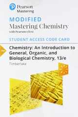 9780134562254-0134562259-Modified Mastering Chemistry with Pearson eText -- Standalone Access Card -- for Chemistry: An Introduction to General, Organic, and Biological Chemistry (13th Edition)