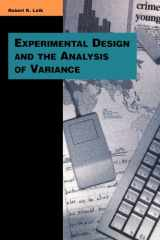 9780803990067-0803990065-Experimental Design and the Analysis of Variance (Pine Forge Press Series in Research Methods and Statistics)