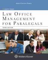 9781454859383-1454859385-Law Office Management for Paralegals (Aspen College)