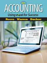 9781111535216-1111535213-Accounting Using Excel for Success (with Essential Resources Excel Tutorials Printed Access Card) (Managerial Accounting)