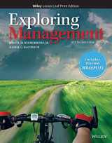 9781119403388-1119403383-Exploring Management, 6e WileyPLUS + Loose-leaf