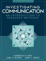 9780205198269-0205198260-Investigating Communication: An Introduction to Research Methods (2nd Edition)