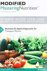 9780134608778-0134608771-Modified Mastering Nutrition with MyDietAnalysis with Pearson eText -- Standalone Access Card -- for Nutrition: An Applied Approach