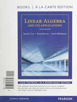 9780321989925-0321989929-Linear Algebra and Its Applications, Books a la Carte Edition Plus MyLab Math with Pearson eText -- Access Code Card