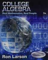 9781305071728-1305071727-College Algebra: Real Mathematics, Real People