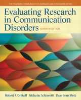 9780133352016-0133352013-Evaluating Research in Communication Disorders (7th Edition) (Pearson Communication Sciences and Disorders)