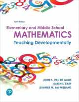 9780134800349-0134800346-Elementary and Middle School Mathematics: Teaching Developmentally plus MyLab Education with Enhanced Pearson eText -- Access Card Package (What's New in Curriculum & Instruction)
