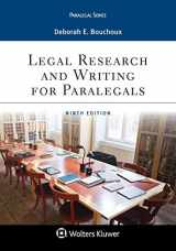 9781543801637-1543801633-Legal Research and Writing for Paralegals (Aspen Paralegal)