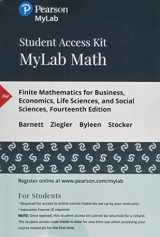 9780134880419-0134880412-MyLab Math with Pearson eText -- 24-Month Standalone Access Card -- for Finite Mathematics for Business, Economics, Life Sciences, and Social Sciences