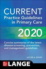 9781260469844-1260469840-CURRENT Practice Guidelines in Primary Care 2020