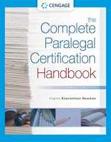 9781337798877-1337798878-The Complete Paralegal Certification Handbook (MindTap Course List)