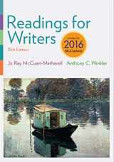 9781337281041-1337281042-Readings for Writers, 2016 MLA Update