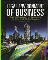 9780133973310-013397331X-Legal Environment of Business: Online Commerce, Ethics, and Global Issues
