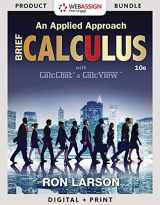 9781337604826-1337604828-Bundle: Calculus: An Applied Approach, Brief, Loose-leaf Version, 10th + WebAssign Printed Access Card for Larson's Calculus: An Applied Approach, 10th Edition, Single-Term
