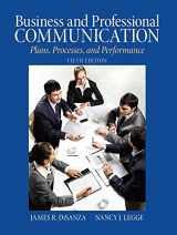 9780205721498-0205721494-Business & Professional Communication: Plans, Processes, and Performance (5th Edition)