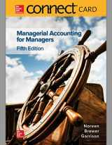 9781260480771-1260480771-Connect Access Card for Managerial Accounting for Managers