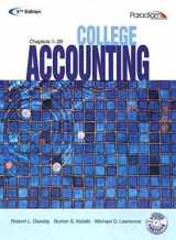 9780763834968-0763834963-COLLEGE ACCOUNTING (STUDENT COURSEWARE TEXT CHAPTERS 1-28 WITH STUDY PARTNER CD) 5TH ED, 5TH ED