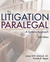 9781285857152-1285857151-The Litigation Paralegal: A Systems Approach
