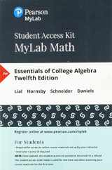 9780134860381-0134860381-MyLab Math with Pearson eText -- 24-Month Standalone Access Card -- for Essentials of College Algebra (12th Edition)