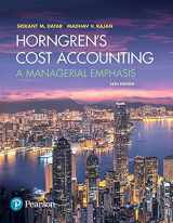9780134475585-0134475585-Horngren's Cost Accounting: A Managerial Emphasis