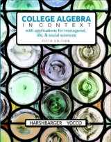 9780134397023-0134397029-College Algebra in Context plus MyLab Math with Pearson eText -- 24-Month Access Card Package
