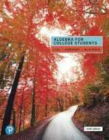 9780135160664-0135160669-Algebra for College Students (9th Edition)