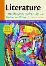 9781319088125-1319088120-Literature: The Human Experience with 2016 MLA Update