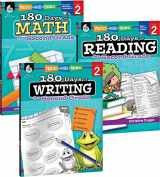 9781493825912-1493825917-180 Days of Practice for Second Grade (Set of 3), 2nd Grade Workbooks for Kids Ages 6-8, Includes 180 Days of Reading, 180 Days of Writing, 180 Days of Math
