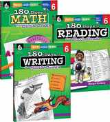 9781493825950-149382595X-180 Days of Practice for Sixth Grade (Set of 3) 6th Grade Workbooks for Kids Ages 10-12, Includes 180 Days of Reading, 180 Days of Writing, 180 Days of Math