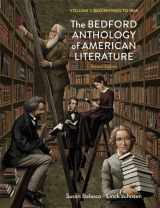 9780312678685-0312678681-The Bedford Anthology of American Literature, Volume One: Beginnings to 1865