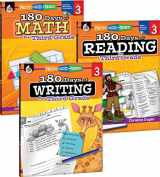 9781493825929-1493825925-180 Days of Practice for Third Grade (Set of 3), 3rd Grade Workbooks for Kids Ages 7-9, Includes 180 Days of Reading, 180 Days of Writing, 180 Days of Math