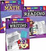 9781493825943-1493825941-180 Days of Practice for Fifth Grade (Set of 3), 5th Grade Workbooks for Kids Ages 9-11, Includes 180 Days of Reading, 180 Days of Writing, and 180 Days of Math