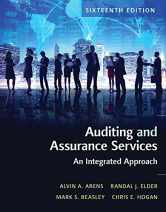 Sell back Auditing and Assurance Services (16th Edition) 9780134065823 / 0134065824