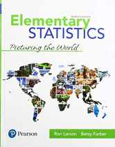 Sell back Elementary Statistics: Picturing the World (7th Edition) 9780134683416 / 0134683412