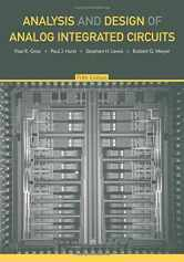 Sell back Analysis and Design of Analog Integrated Circuits, 5th Edition 9780470245996 / 0470245999