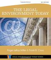 Sell back The Legal Environment Today (Miller Business Law Today Family) 9781305075450 / 1305075455